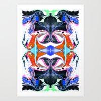 Liquid Maze 1 Art Print