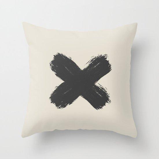 Black Cross Throw Pillow