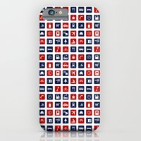 Travel Icons In RWB iPhone 6 Slim Case