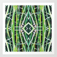 50 Shades Of Green (6) Art Print