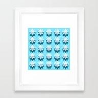 Blue Petal Pattern Framed Art Print