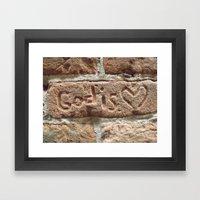 God Is Love. Framed Art Print