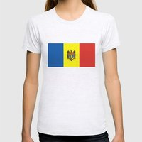 Moldova country flag Womens Fitted Tee Ash Grey SMALL