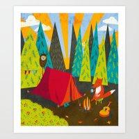 Let's Go Camping Art Print