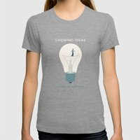 Growing ideas Womens Fitted Tee Tri-Grey SMALL
