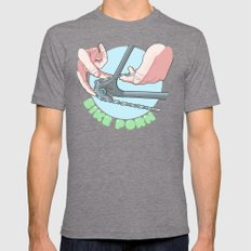 bike porn Mens Fitted Tee Tri-Grey SMALL