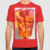 male torso summer Mens Fitted Tee Red SMALL