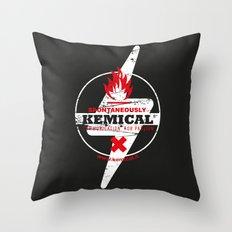 Spontaneously Kemical Throw Pillow