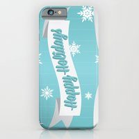 iPhone & iPod Case featuring Holiday Snow by designbyash