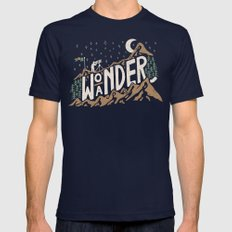 Wo/aNDER Mens Fitted Tee Navy SMALL