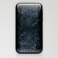 3D Ornaments, Blue iPhone & iPod Skin
