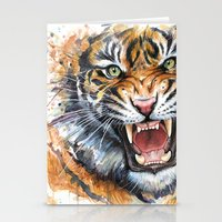 Tiger Watercolor Stationery Cards