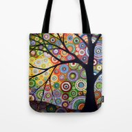 Tote Bag featuring Abstract Landscape Origi… by Amy Giacomelli