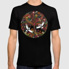 tree of life black SMALL Mens Fitted Tee Black