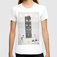 Exam Womens Fitted Tee White SMALL