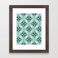 Watercolor Green Tile 2 Framed Art Print