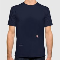Dude.. I'm Right Here Mens Fitted Tee Navy SMALL