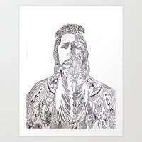 motifs of a portrait Art Print