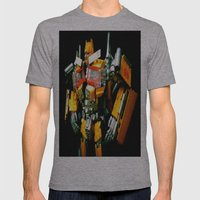The Golden Optimus Mens Fitted Tee Athletic Grey SMALL