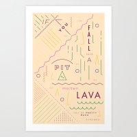 Haikuglyphics - On Lava Art Print