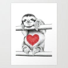 If Care Bears were sloths... Art Print