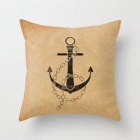 Anchor Print Throw Pillow
