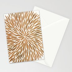 Rose Gold Burst Stationery Cards