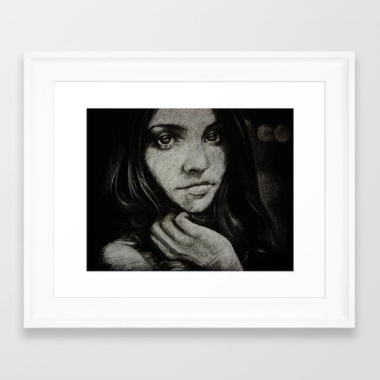 Charcoal experiment #5 Framed Art Print