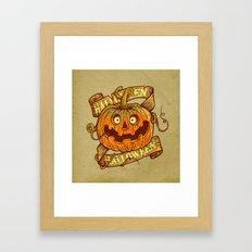 Halloween dark khaki Framed Art Print