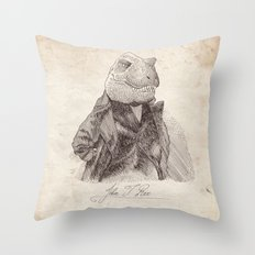 John T. Rex Throw Pillow