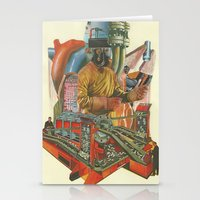 We penetrated deeper and deeper into the heart of darkness Stationery Cards