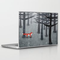 forest Laptop & iPad Skins featuring The Fox and the Forest by Nic Squirrell