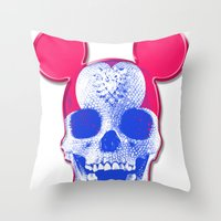 Mickey Mouse Skullface (… Throw Pillow