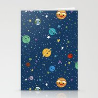Out Of This World Cuteness (dark) Stationery Cards
