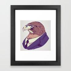 Hawk illustration Framed Art Print