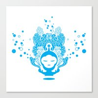 Canvas Print featuring The Silent Monkey by HanYong