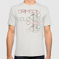 Crimson and Clover Over and Over Mens Fitted Tee Silver SMALL