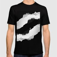 Black Isolation Mens Fitted Tee Black SMALL