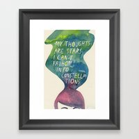 Thoughts Are Constellations Framed Art Print