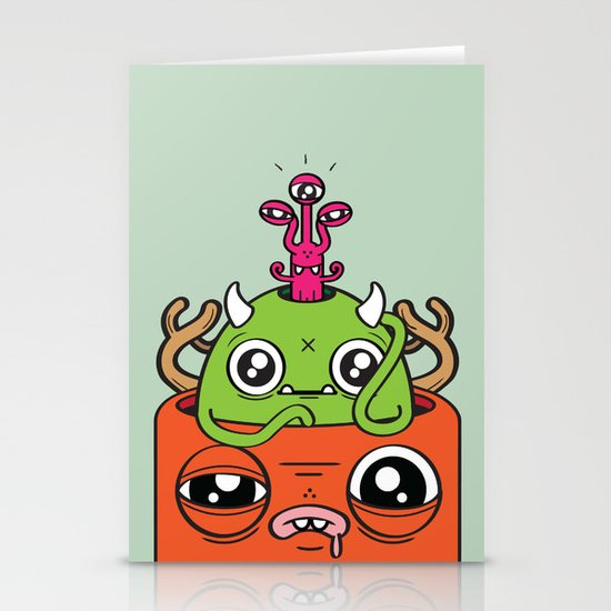 Monster Mind Stationery Card