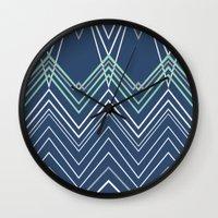 Navy Chevy Wall Clock
