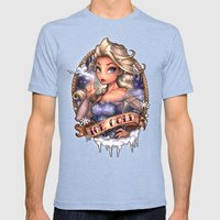 ICE COLD Mens Fitted Tee Tri-Blue SMALL
