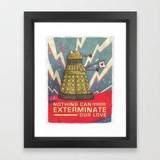 Dalek: Nothing Can Exter… Framed Art Print