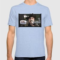 I'm Your Huckleberry (Tombstone) Mens Fitted Tee Tri-Blue SMALL