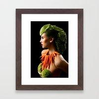 Eat Your Greens Framed Art Print