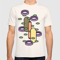 Hot Dog Plain Mens Fitted Tee Natural SMALL