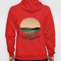 Sunsetting landscape photography of sky, lake and mountain. Hoody