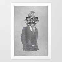 The Gentlemanly Squiggle Art Print