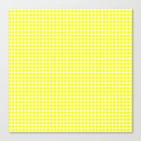 Canvas Print featuring YELLOW DOT by Mr.DOT