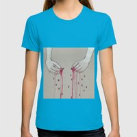song for pomegranates Womens Fitted Tee Teal SMALL